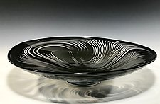 Zebra Platter by John Gibbons (Art Glass Platter)