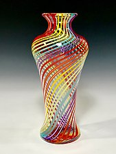 Rainbow Vase II by John Gibbons (Art Glass Vase)