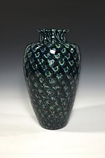 Tide Pool Green Vase II by John Gibbons (Art Glass Vase)