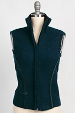 Lattice Zip Vest by Vilma Mare  (Wool Vest)