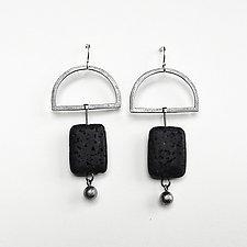 Lava Rock Earrings by Boo Poulin (Silver & Stone Earrings)
