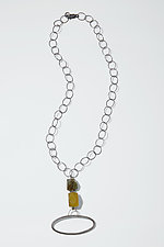 Labradorite & Serpentine Necklace by Boo Poulin (Silver & Stone Necklace)