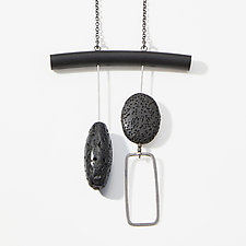 Lava and Blackstone Necklace by Boo Poulin (Silver & Stone Necklace)