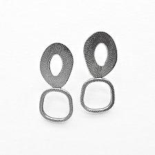 Oval & Square Earrings by Boo Poulin (Silver Earrings)