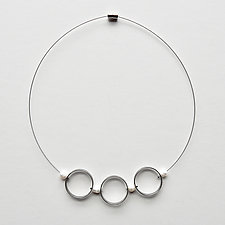 Circles & Pearls Necklace by Boo Poulin (Silver & Pearl Necklace)
