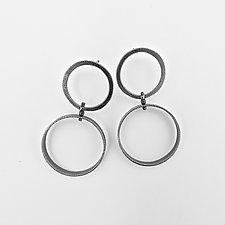 Double Circle Earrings by Boo Poulin (Silver Earrings)