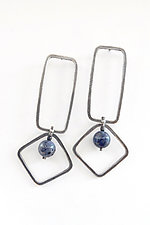 Silver and Sponge Coral Earrings by Boo Poulin (Silver & Stone Earrings)
