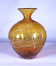 Gold Lightning Vase by Danny Polk Jr. (Art Glass Vase)