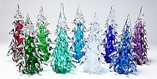Large Trees with Color on the Inside by Danny Polk Jr. (Art Glass Sculpture)
