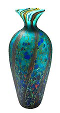 Matte Ocean Forest Amphora Vase by Danny Polk Jr. (Art Glass Vase)