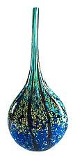 Extra Large Ocean Forest Mandolin Vase by Danny Polk Jr. (Art Glass Vessel)