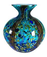 Ocean Forest Jug Vase by Danny Polk Jr. (Art Glass Vase)