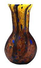 Matte Wild Honey Trumpet Vase by Danny Polk Jr. (Art Glass Vase)