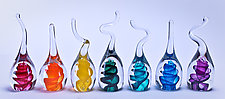 Rainbow Ring Holders by Danny Polk Jr. (Art Glass Ring Holder)