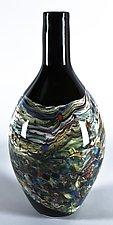 Lithosphere Bobber Vase by Danny Polk Jr. (Art Glass Vase)