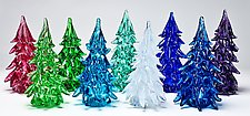 Large Trees with Color on the Outside by Danny Polk Jr. (Art Glass Sculpture)
