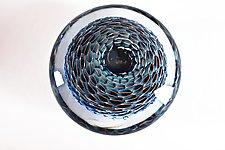 Flat Aquanacci Paperweight by Danny Polk Jr. (Art Glass Paperweight)