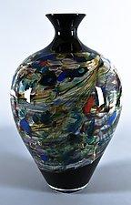 Lithosphere Tall Amphora by Danny Polk Jr. (Art Glass Vase)