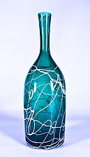 Green Lightning Vase by Danny Polk Jr. (Art Glass Vase)