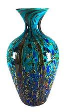 Ocean Forest Amphora Vase by Danny Polk Jr. (Art Glass Vase)