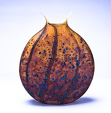 Reactive Series Flat Matte Vases by Danny Polk Jr. (Art Glass Vessel)