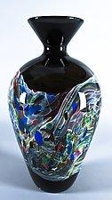 Lithosphere Small Amphora by Danny Polk Jr. (Art Glass Vase)