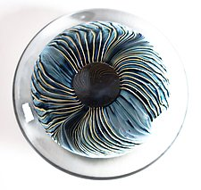 Flat Feathered Aquanacci Paperweight by Danny Polk Jr. (Art Glass Paperweight)