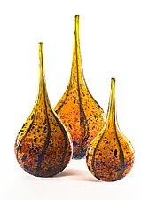 Wild Honey Mandolin Vase by Danny Polk Jr. (Art Glass Vessel)