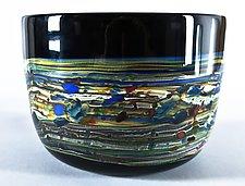 Lithosphere Bowl by Danny Polk Jr. (Art Glass Bowl)
