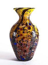 Wild Honey Amphora Vase by Danny Polk Jr. (Art Glass Vase)