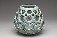 Openwork Teardrop Vessel by Lynne Meade (Ceramic Vessel)