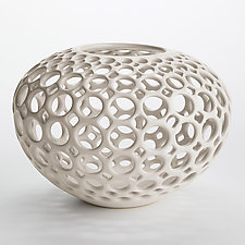 Lace Orb Vessel by Lynne Meade (Ceramic Vessel)