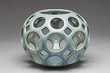 Openwork Pierced Orb by Lynne Meade (Ceramic Vessel)