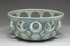 Pierced Fruit Bowl by Lynne Meade (Ceramic Bowl)