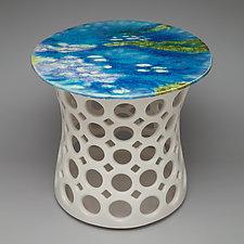 Pierced Ceramic Side Table by Lynne Meade (Ceramic Side Table)