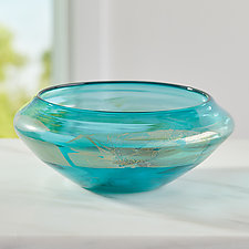 Aquabowl by Suzanne Guttman (Art Glass Bowl)