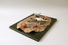 French Lesson 20—Nature Morte avec Oiseaux, Still Life with Birds by Darlis Lamb (Bronze Sculpture)