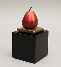 Sweet Little Pear—Petit Poire Douce by Darlis Lamb (Bronze Sculpture)