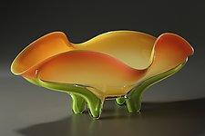Tropical Bowl by Ed Branson (Art Glass Bowl)
