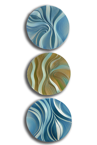 Wave and Wind Dune Disk Trio