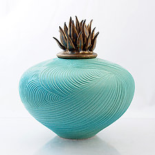 Windstone with Wind Lid by Natalie Blake (Ceramic Vessel)