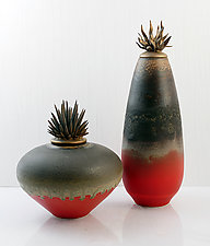 Smoke and Ashes by Natalie Blake (Ceramic Vessel)