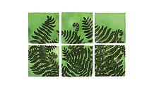 Ferns in Jade by Natalie Blake (Ceramic Wall Sculpture)