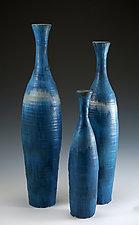 Bottles in Blue by Daniel Slack (Ceramic Bottles)
