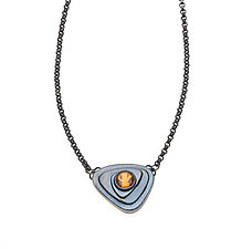 Silver Triangle Necklace by Alexan Cerna and Gina  Tackett (Silver & Stone Necklace)