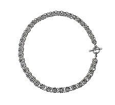 Daisy Necklace by Alexan Cerna and Gina  Tackett (Silver Necklace)