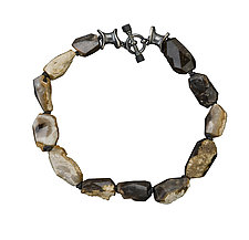 Petrified Wood Necklace by Alexan Cerna and Gina  Tackett (Silver & Wood Necklace)