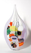 Violet Butterfly by Bengt Hokanson and Trefny Dix (Art Glass Sculpture)