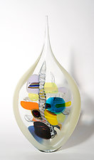 Champagne Butterfly by Bengt Hokanson and Trefny Dix (Art Glass Sculpture)