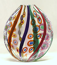 Small Mosaic Pouch by Ken Hanson and Ingrid Hanson (Art Glass Vase)